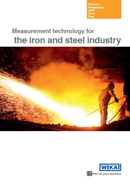 Brochure for the steel industry: Measurement technology at a glance