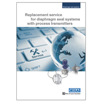 Diaphragm seal systems with process transmitters: Replacement service optimises the benefit