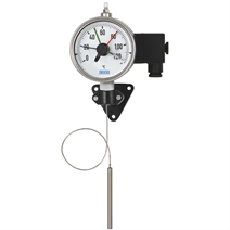 Expansion thermometer with micro switch and capillary