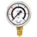 Bourdon tube pressure gauge with one or two fixed switch contacts